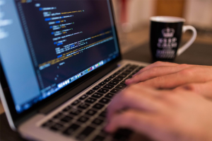 Image of a Person Coding