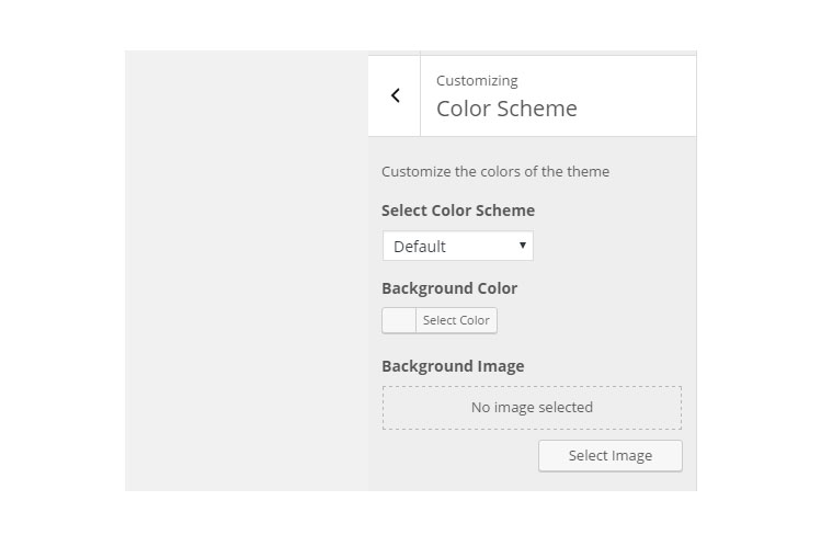 Color Scheme with WP Theme Customizer